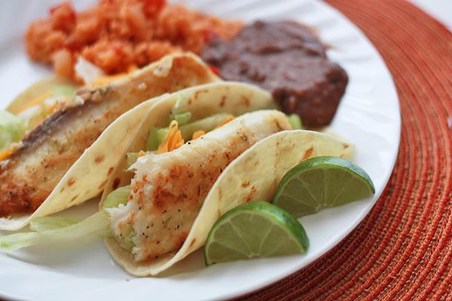 Tilapia Fish Tacos with Mango Salsa