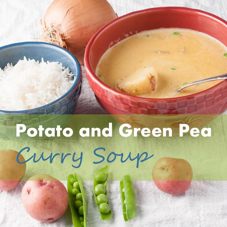 potato and green pea curry soup