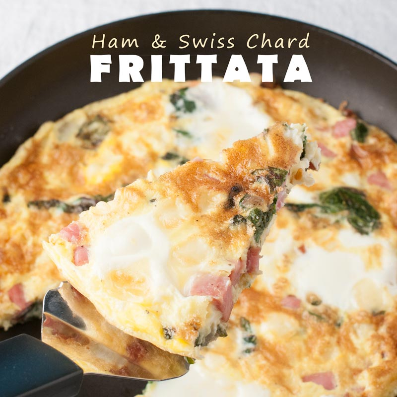 ham and swiss chard frittata