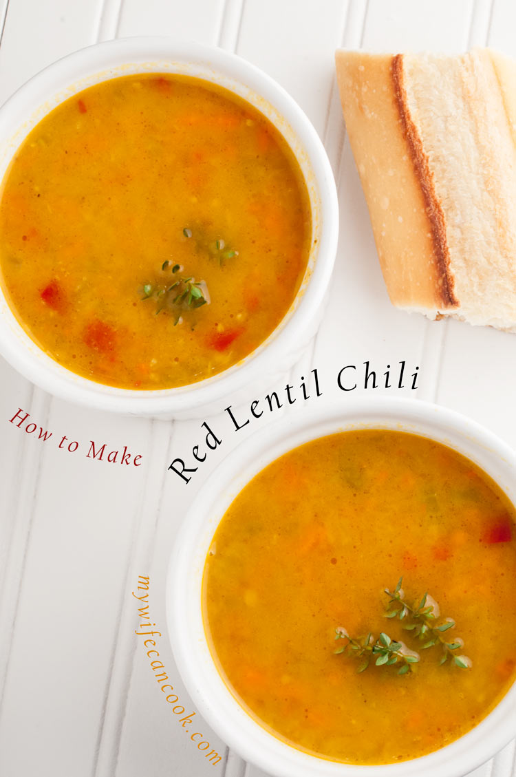 red lentil chili soup