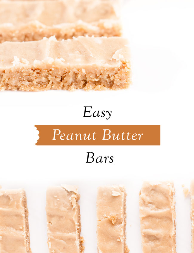 how to make easy peanut butter bars