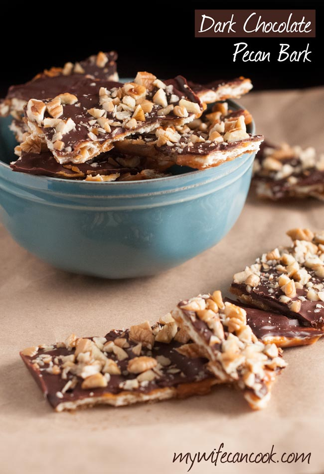 dark chocolate pecan bark