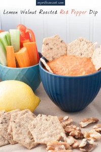 lemon and walnut roasted red pepper dip