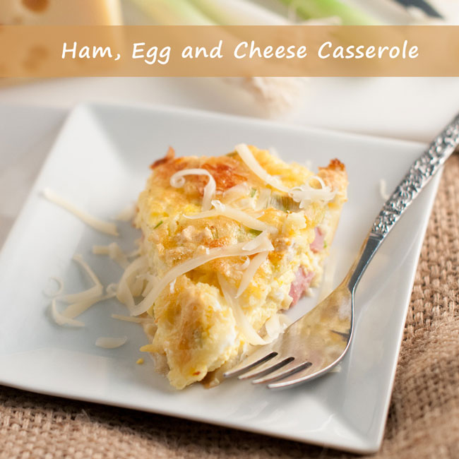 Ham, Egg and Cheese Casserole