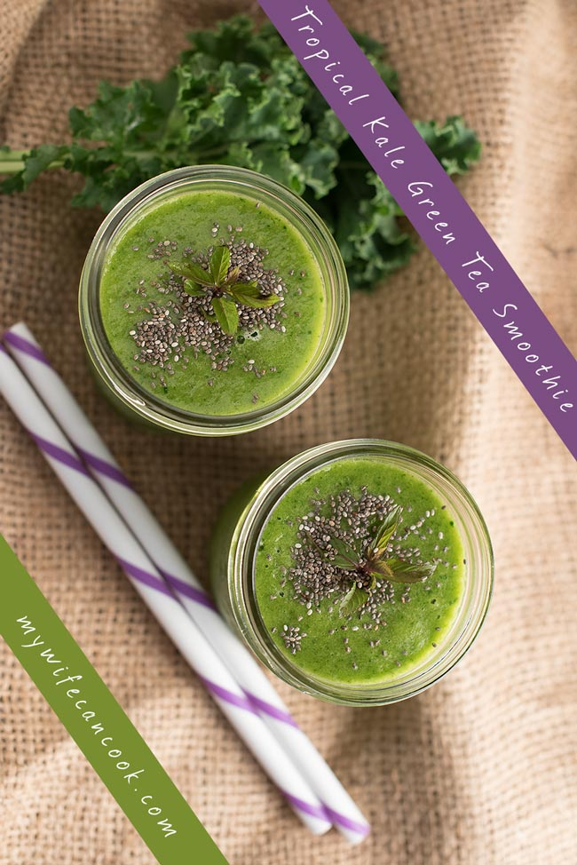 tropical kale green smoothie