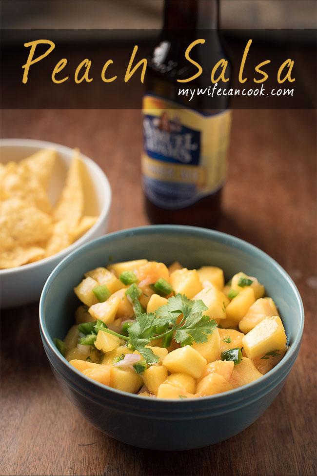 peach salsa - great homemade peach salsa recipe