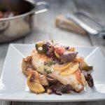 balsamic chicken bruschetta with fresh vegetables