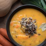 Autumn Butternut Squash Soup - the perfect fall soup...butternut squash soup with vegetables and wild rice