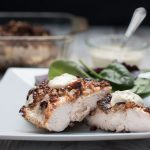pecan crusted chicken with dijon sour cream