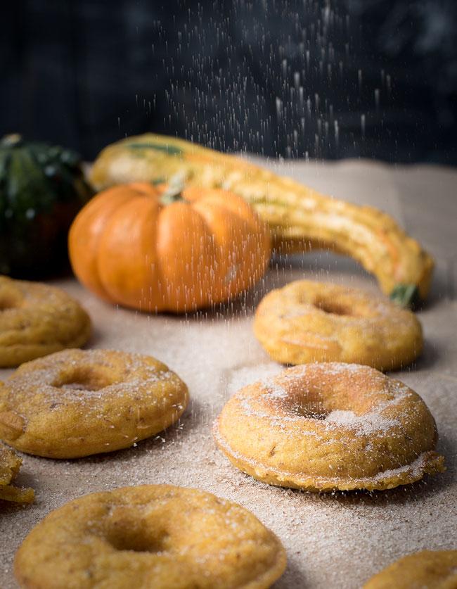 vegan homemade pumpkin donuts
