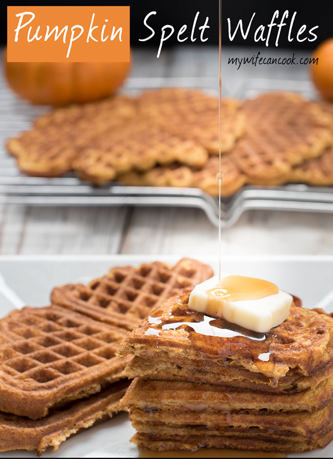 Spelt Pumpkin Waffles - easier to digest (literally and figuratively)