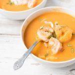 thai butternut squash soup thai soup recipe with coconut milk, butternut squash, and shrimp