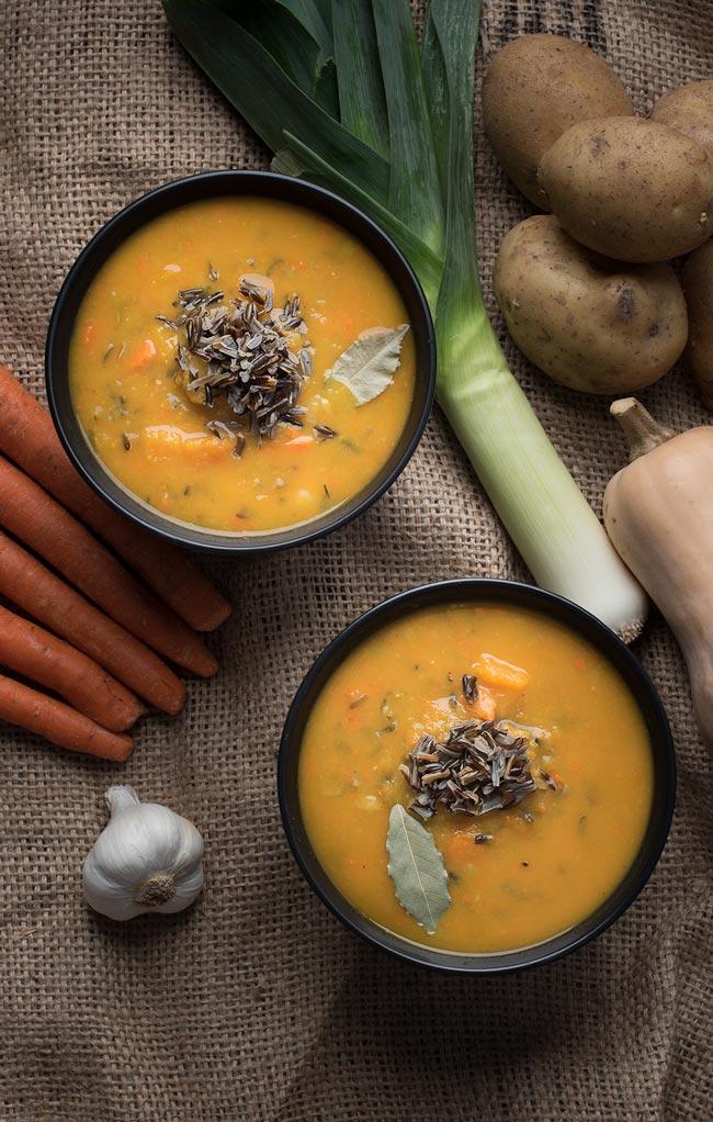 vegan butternut squash soup - the perfect autumn squash soup