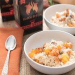 butternut squash risotto with beef bone broth