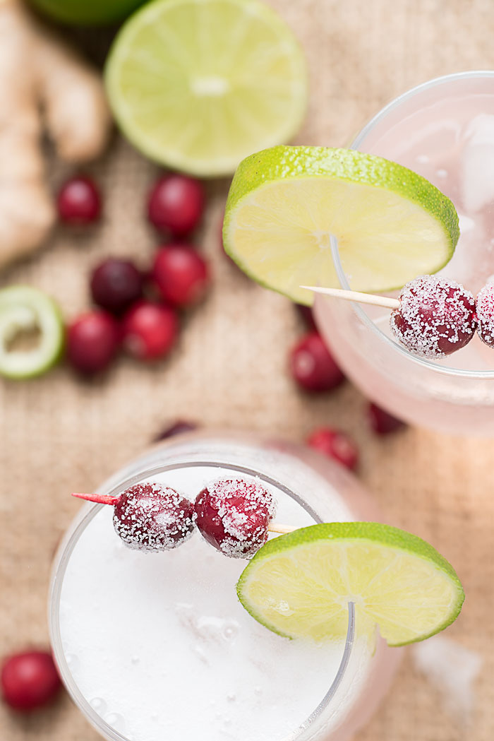 cranberry moctails - how to make a cranberry lime mocktail drink