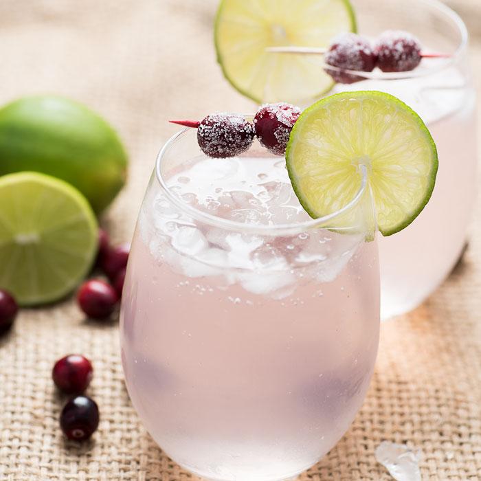 Lime Cranberry Mocktail