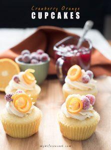 cranberry orange cupcakes with white chocolate buttercream