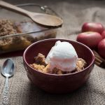 homemade apple crisp, how to make, how to find the best apples, and our secret weapon for easy prep