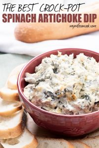 best easy crock-pot spinach artichoke dip