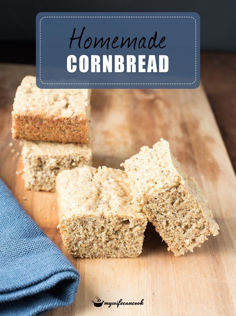 easy homemade flax cornbread recipe