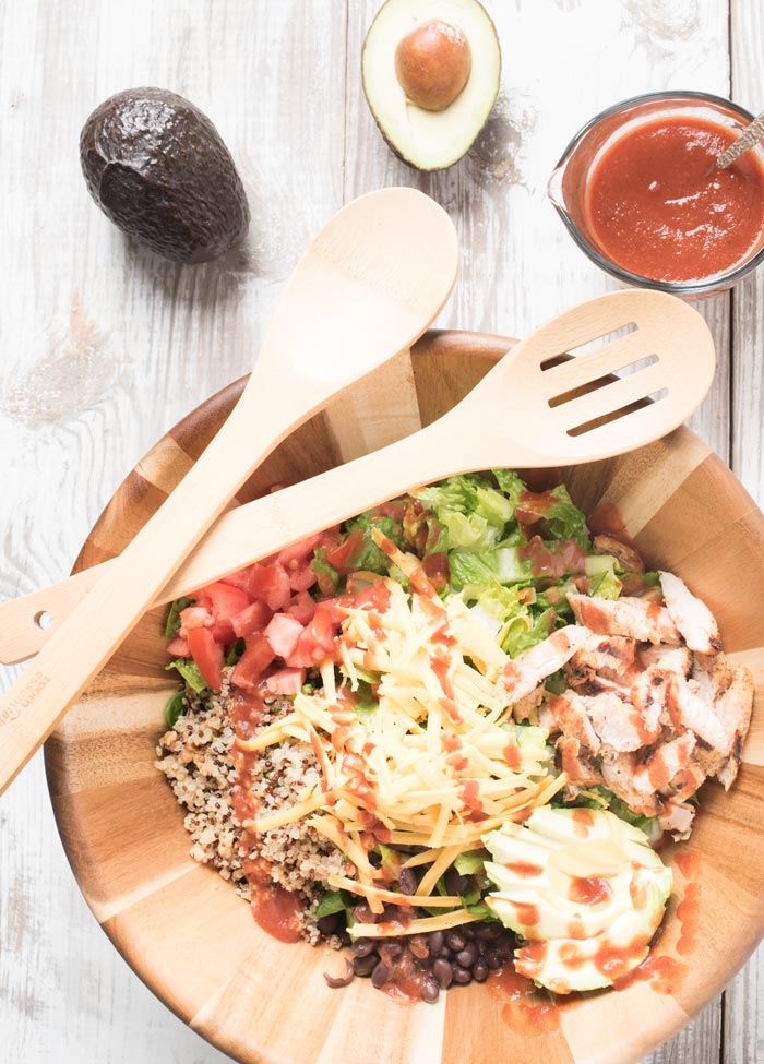 Healthy Quinoa Taco Salad - Eating healthy, let's taco 'bout it