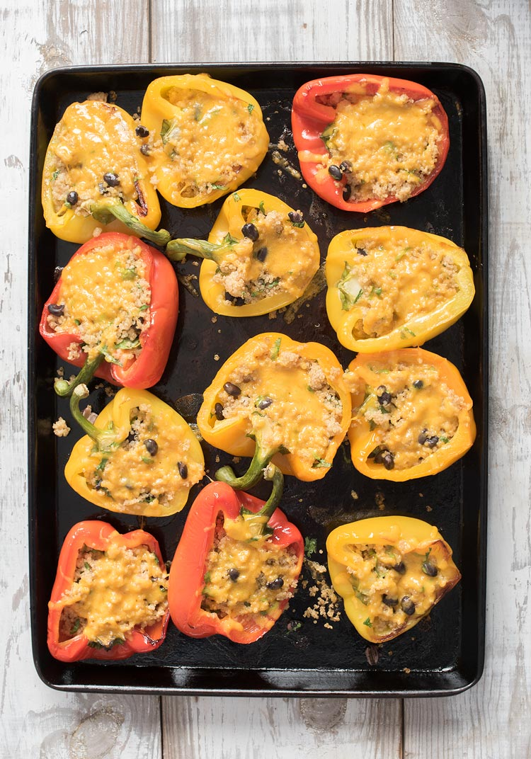 how to make quinoa stuffed bell peppers