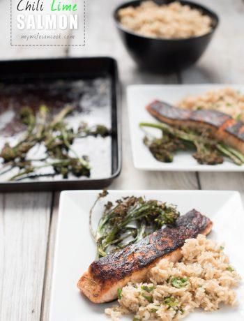 spicy pan seared chili lime salmon recipe