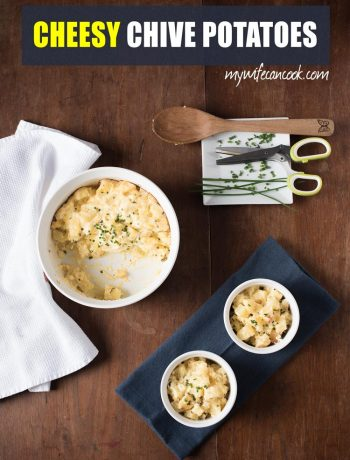 easy cheesy chive potatoes