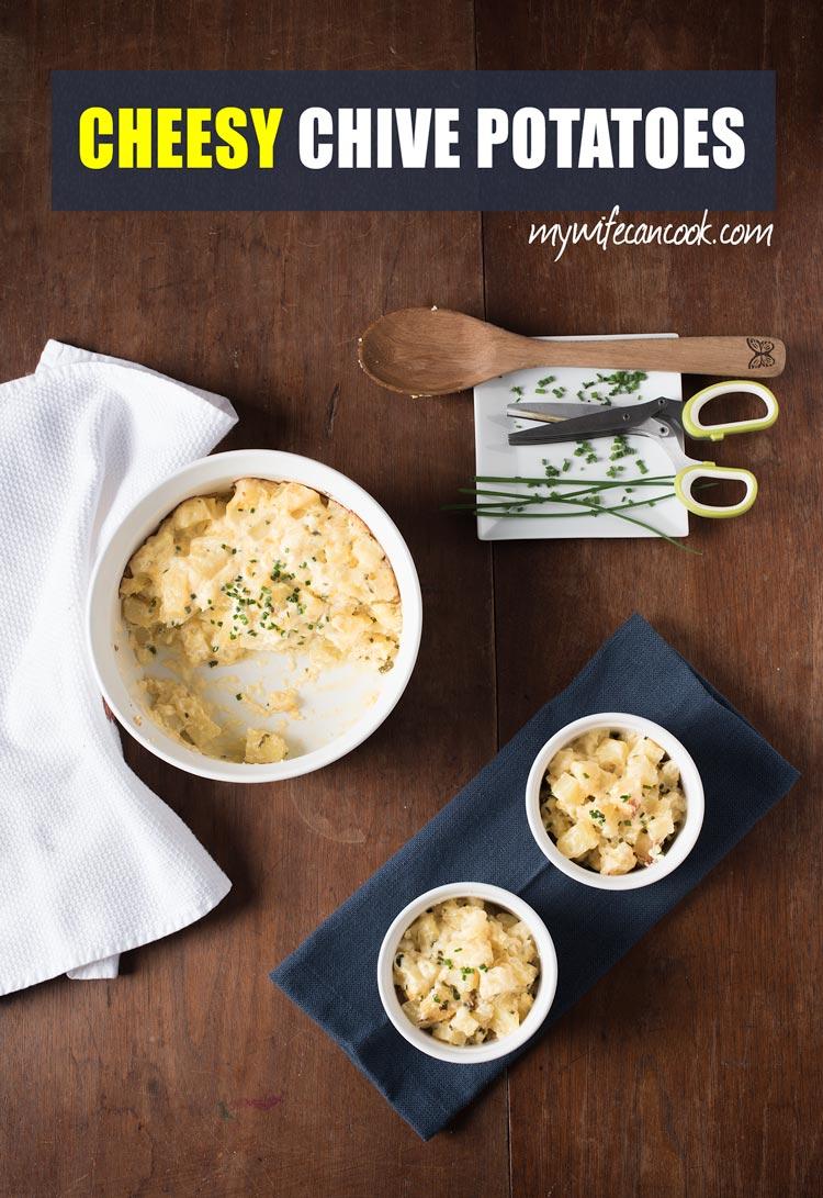 easy cheesy chive potatoes
