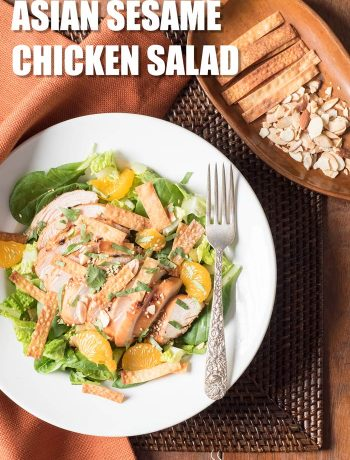 Asian Sesame Chicken Salad with mandarin oranges and sesame vinaigrette