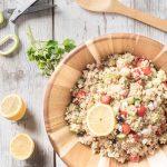 zesty quinoa salad with lemon vinaigrette