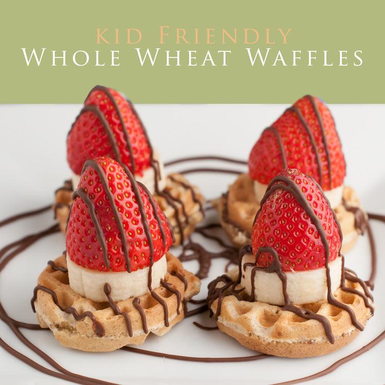 kid friendly whole wheat waffles