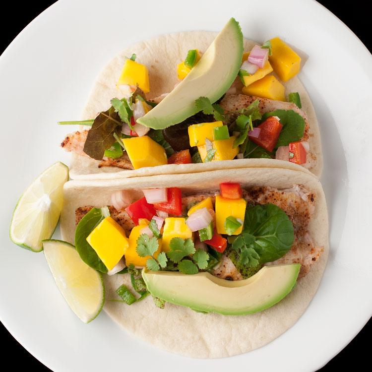 Tilapia fish tacos mango salsa 1 for Fish tacos recipe tilapia