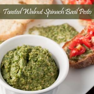 Toasted Walnut Spinach Basil Pesto