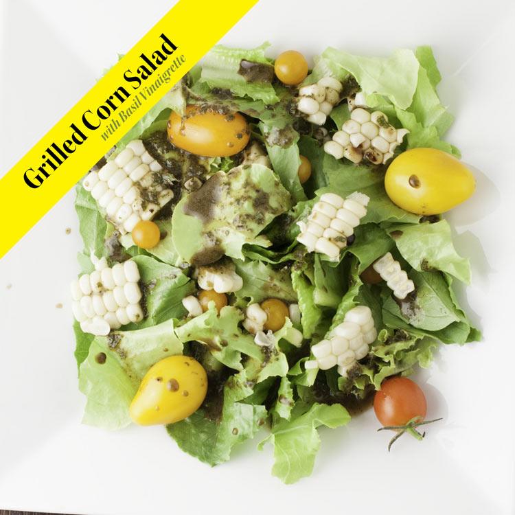 Grilled Corn Salad with Basil Vinaigrette