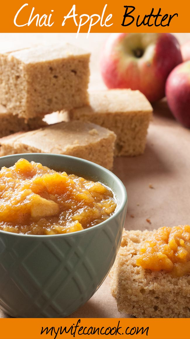 how to make chai apple butter