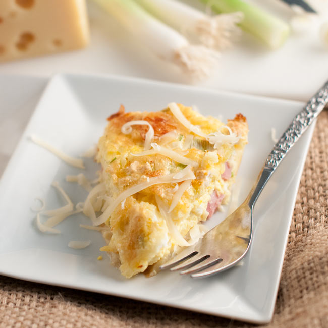 Easy, Ham, Egg and Cheese Casserole