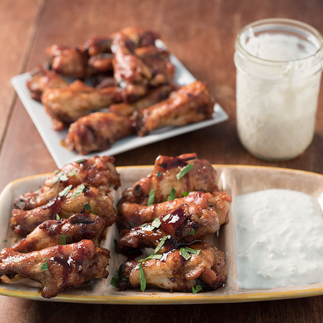 Slow baked soy glazed chicken wings crispy oven roasted wings forumfinder Images