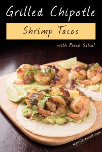 Grilled Chipotle Shrimp Tacos with Peach Salsa