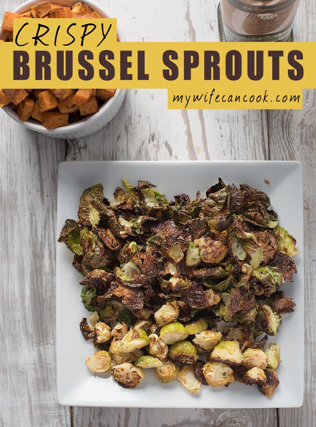 crispy roasted brussel sprouts