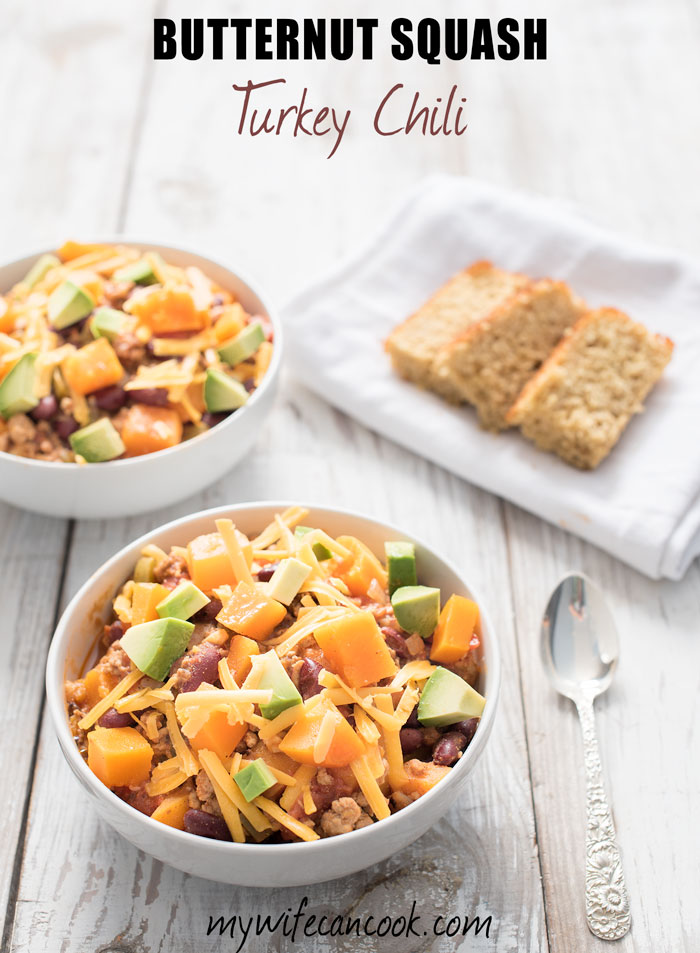 Butternut Squash Turkey Chili - Healthy, Hearty, and Easy ...