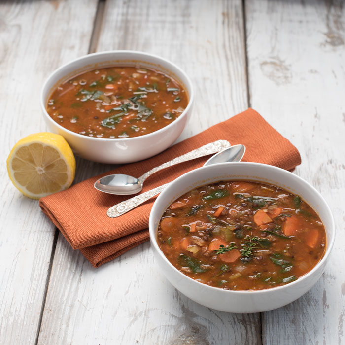 easy swiss chard lentil soup