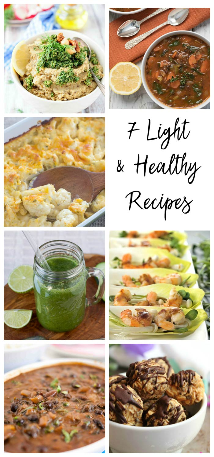 January light healthy recipes