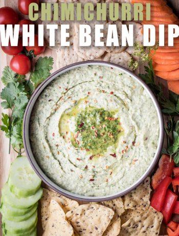 chimichurri white bean dip
