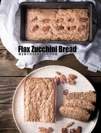 flax zucchini bread made with flax, spelt flour, no eggs, and buttermilk