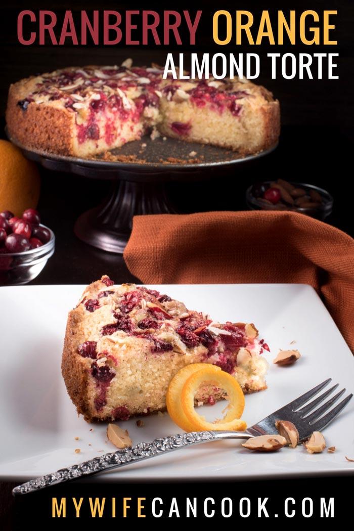 cranberry orange almond torte