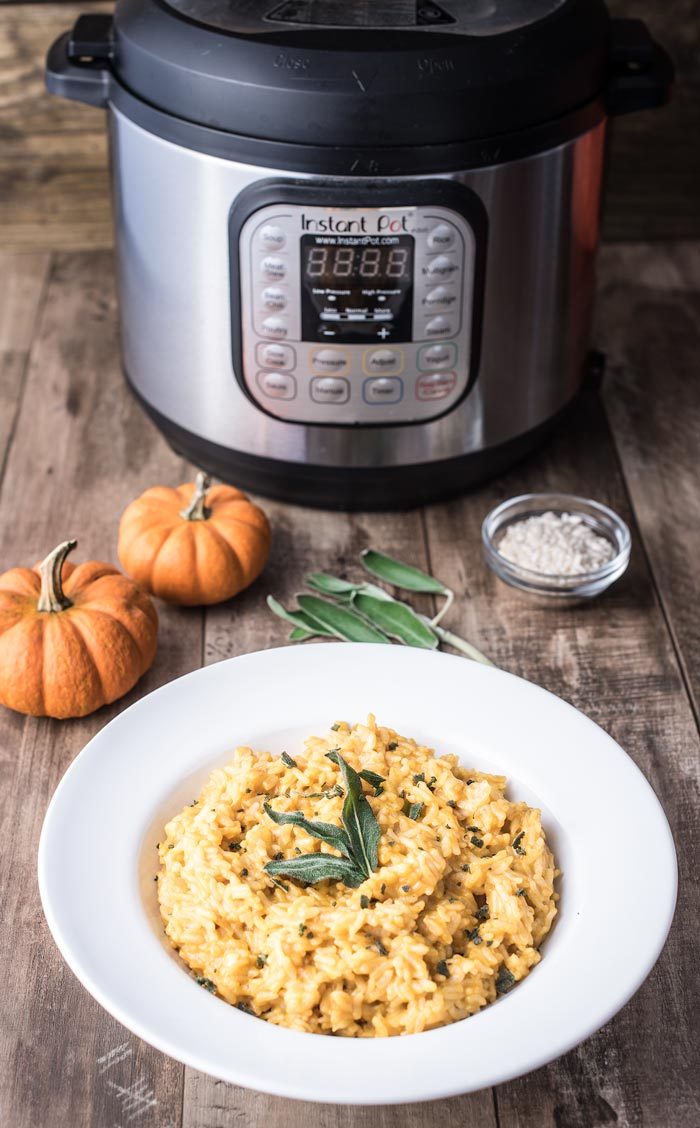 Instant Pot Risotto - a special pumpkin risotto made with pumpkin puree