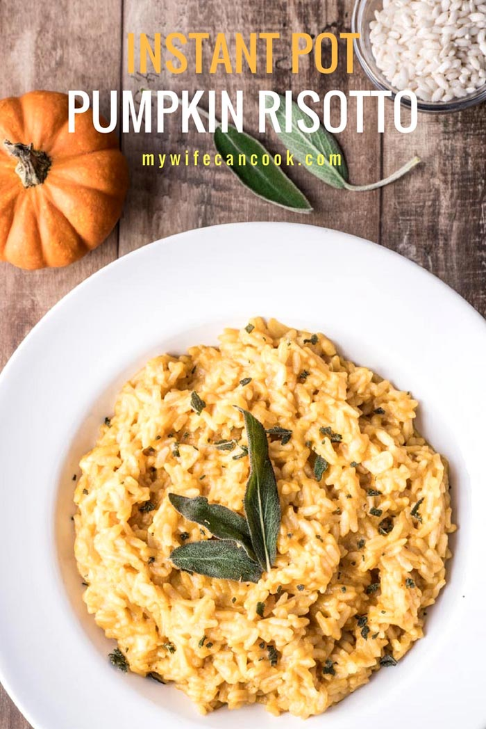 Instant Pot Risotto with pumpkin and sage